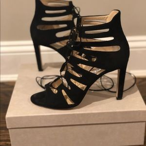 Jimmy Choo black Cage style shoes